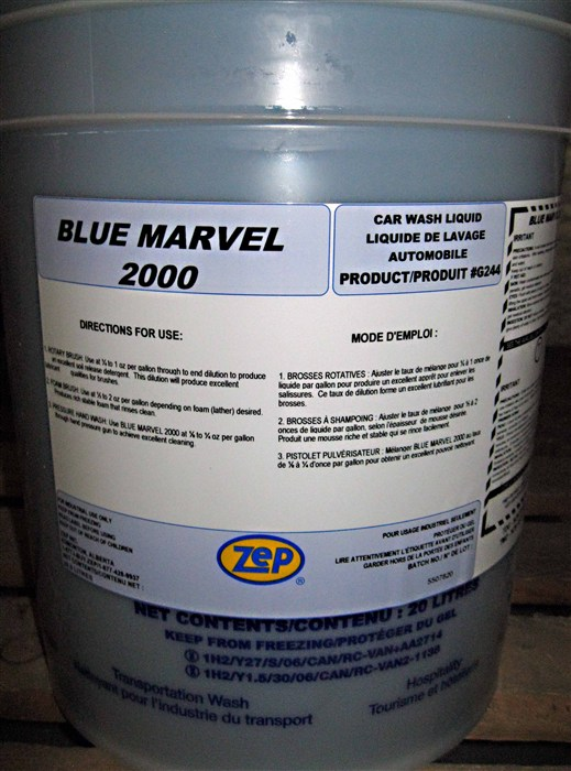 Zep Blue Marvel 2000 High Foam Vehicle Detergent