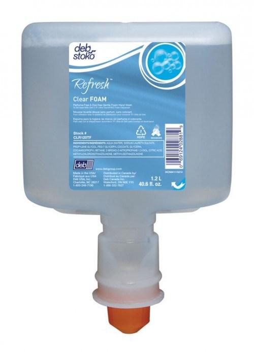 Deb Refresh Clear Foam Hand Soap for TouchFREE dispenser