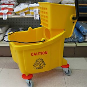 JVC Yellow Side press mop bucket.