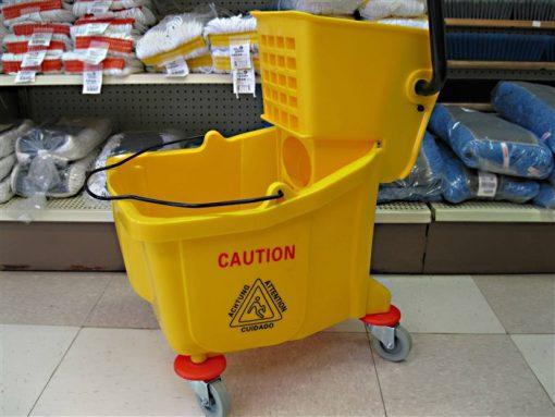 JVC Yellow Side press mop bucket.