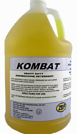 Zep Kombat Commercial Dishwasher Detergent