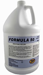 Zep Formula 50 Concentrated Cleaner and Degreaser.