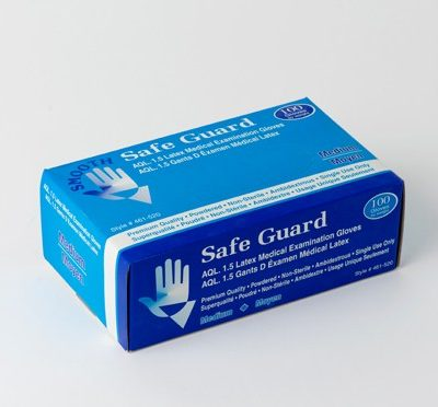 Safe Guard Disposable Latex Gloves – Medical Grade