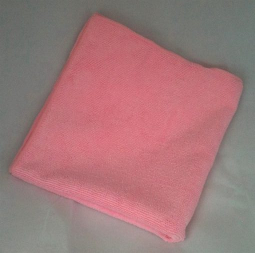 """Microfiber General Cleaning Cloth - 16x16"""" - Pink"""