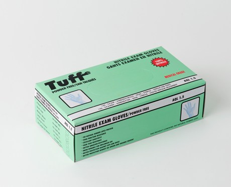 Tuff Blue Disposable Nitrile Gloves