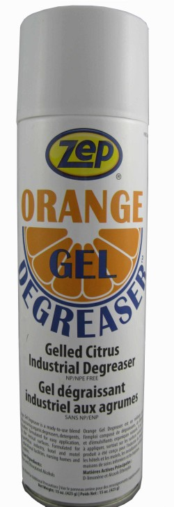 Orange Gel Degreaser Aerosol Soap Stop
