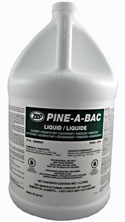 Zep Pine A Bac pine scented cleaner.
