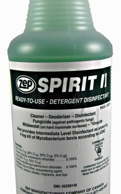 Zep Spirit II Cleaner and Disinfectant.
