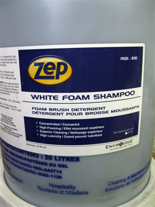 Zep White Foam Shampoo - Foam Brush Detergent