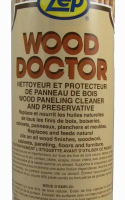 Zep Wood Doctor wood cleaner and polish.