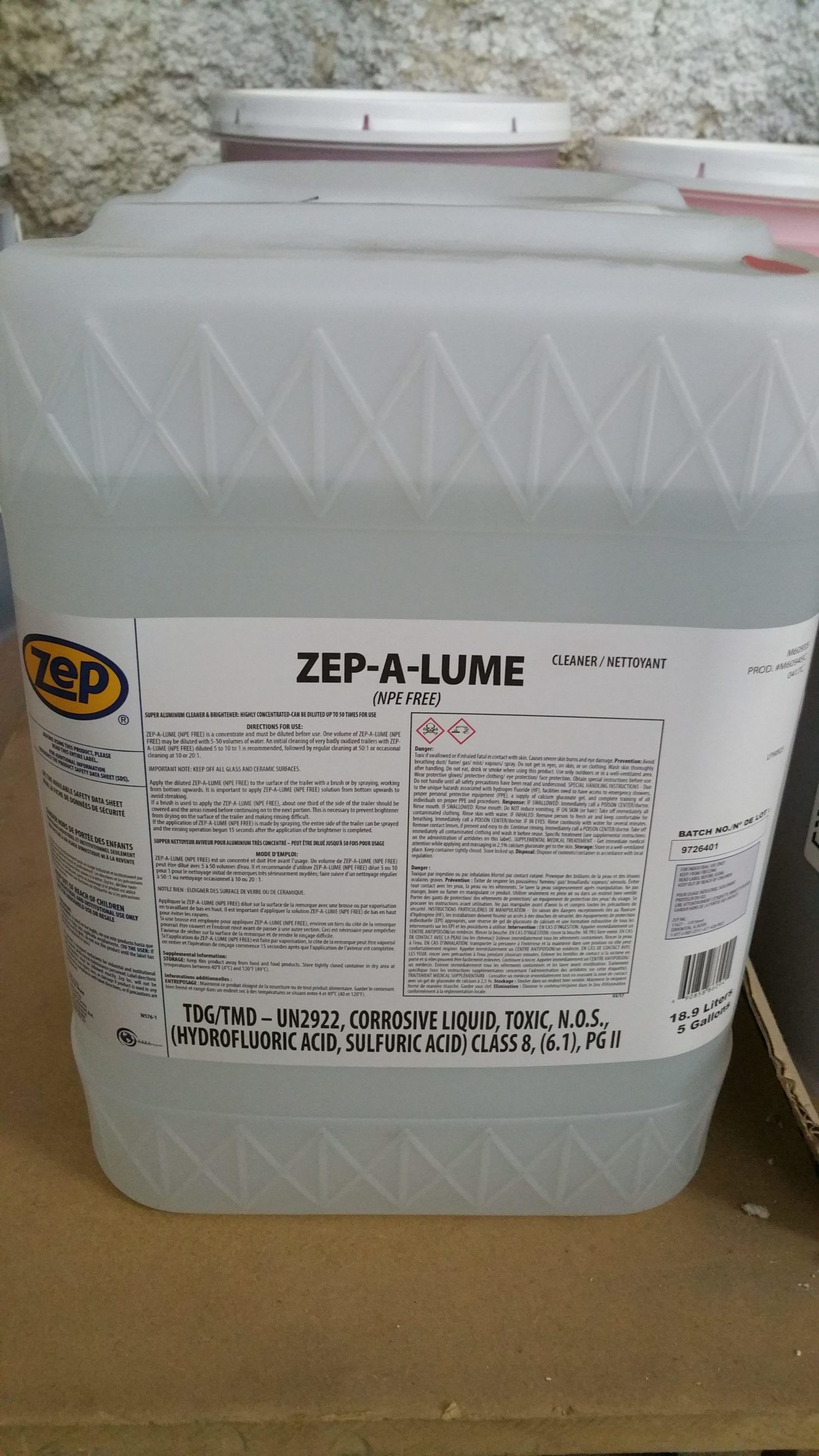 Zep Alume Soap Stop